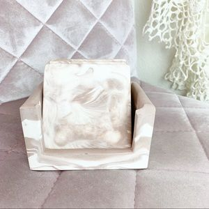 Other - Pink marble coaster set X3